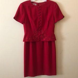 Petite red dress.